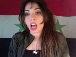 The internet video blogger known as Syrian Girl Partisan, Mimi Al-Laham
