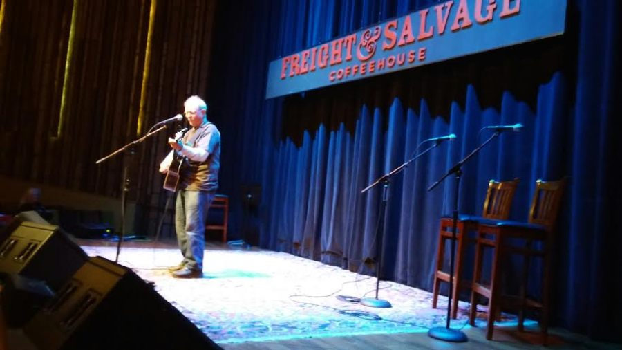 Country Joe McDonald takes the Freight & Salvage stage at the Berkeley Barb 50th Anniversary Celebration on August 12, 2015.