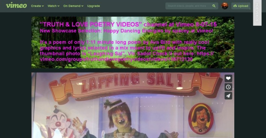 Laffing Sal by Ava Bird 8-07-15 feature Truth&LovePoetryVideosVimeo vic-sadot-screenshot-text1259x655