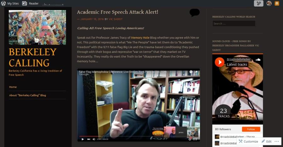 Academic Free Speech Attack Alert 1-09-16 screenshot_1257x654