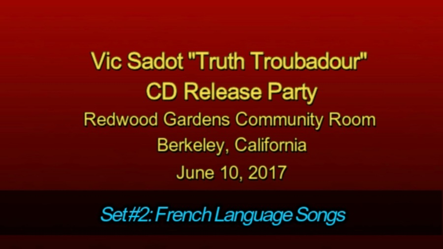 Truth Troubadour CD Concert Second Set Title Page