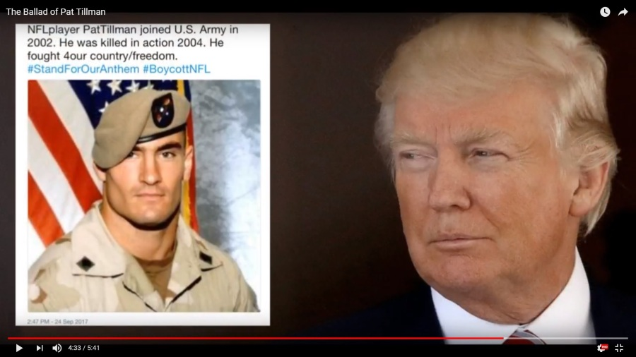 Trump-Tillman-Stand-for-Anthem-Boycott-NFL-Tweet_The-Ballad-Of-Pat-Tillman-screenshot-vic-sadot